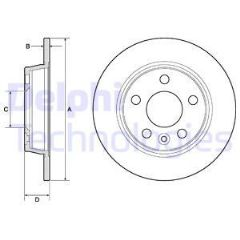 Brake Discs Front 239mm solid (per pair)